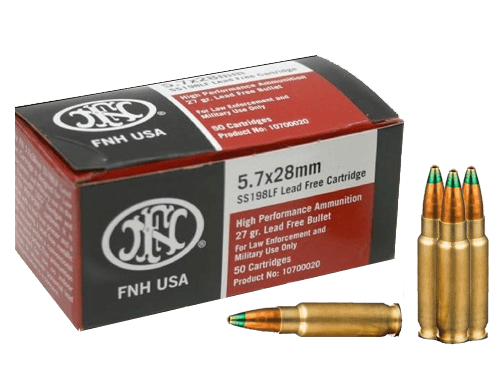 SS198LF Green Tip Ammo 5.7x28mm – FN Mil/Leo Defense Ammo $35 a box